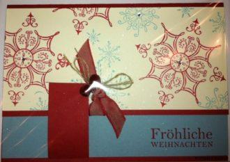 Stampin up Weihnachtskarte Serene Snowflakes