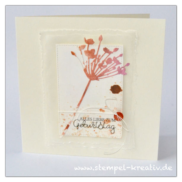 Glückwunschkarte Wildblume