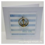 Glückwunschkarte Anker maritim alles Liebe