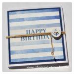 Glückwunschkarte Leporello Geburtstag Gutscheinkarte maritim