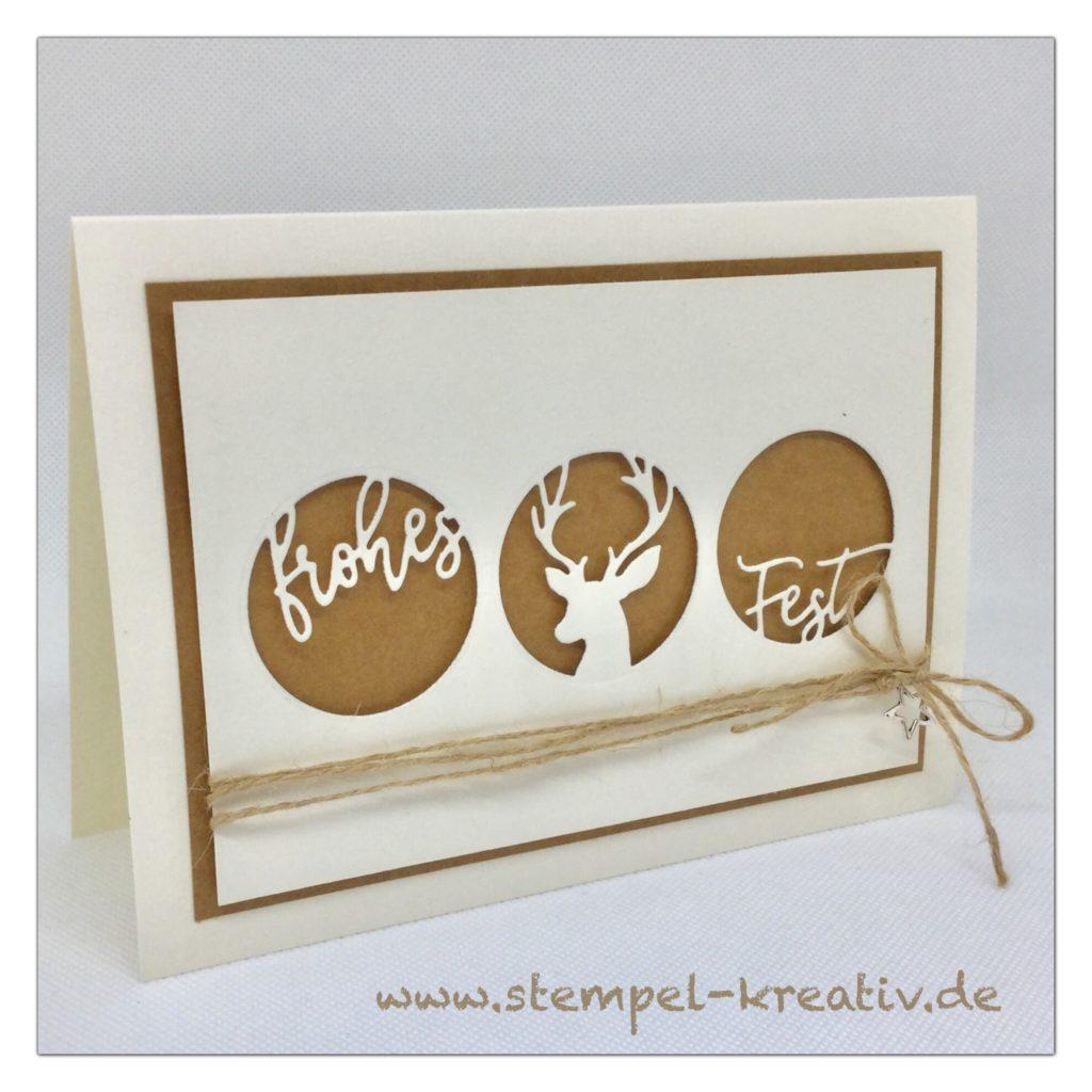 Weihnachtskarte Frohes Fest Dreierlei