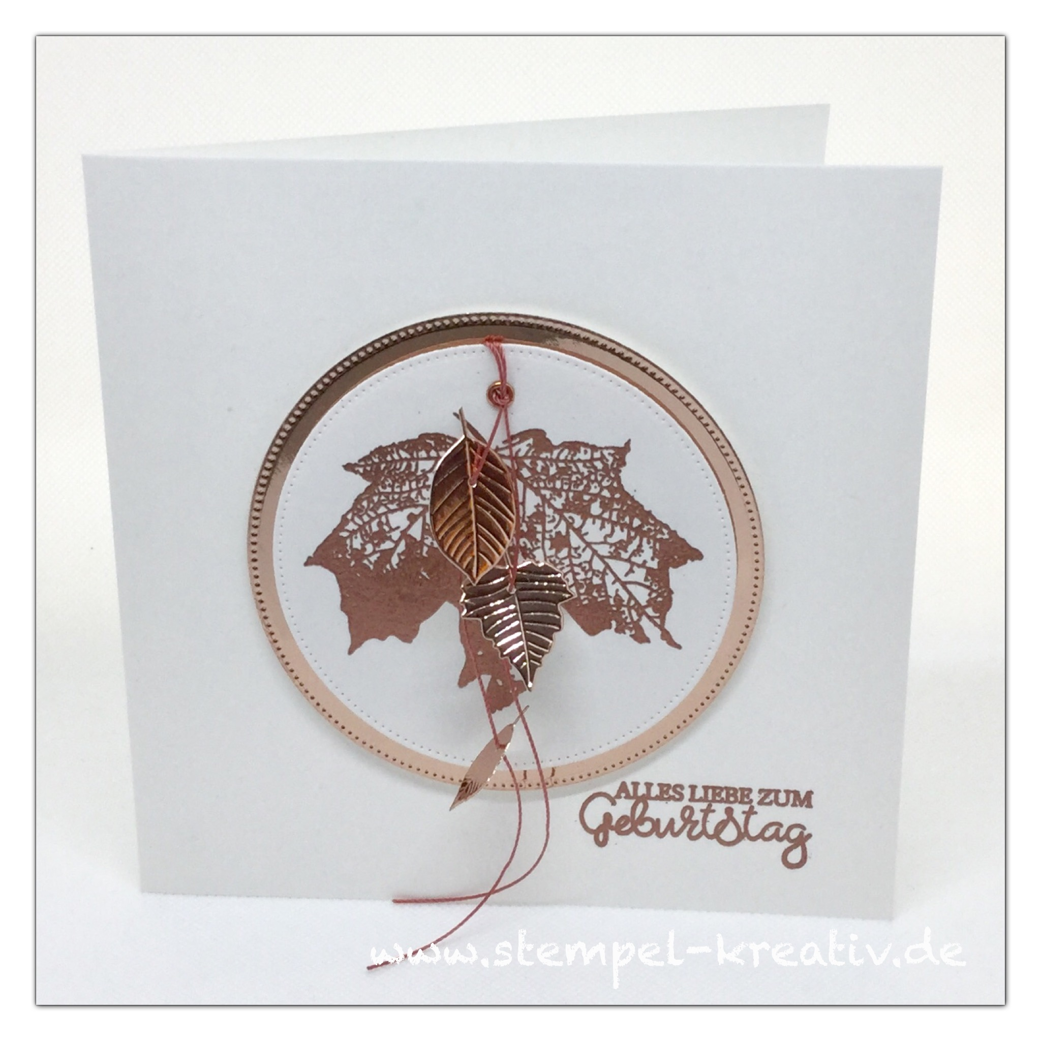Glückwunschkarte Ahornblatt Frohe Herbstzeit
