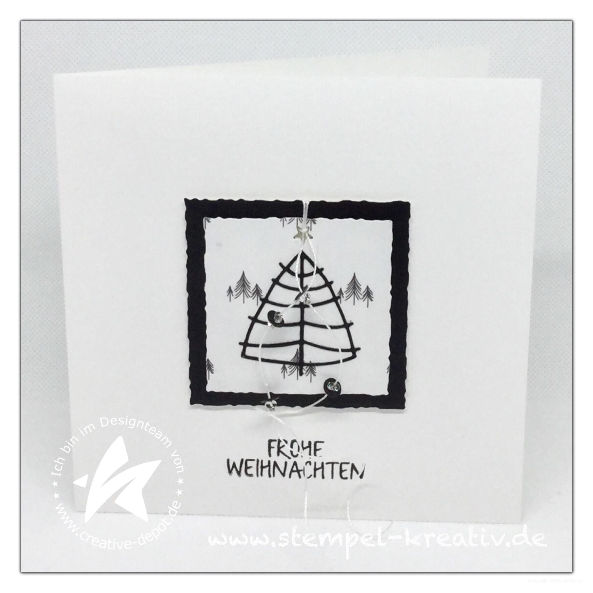 Weihnachtskarte Frohe Weihnachten Tannenbäume