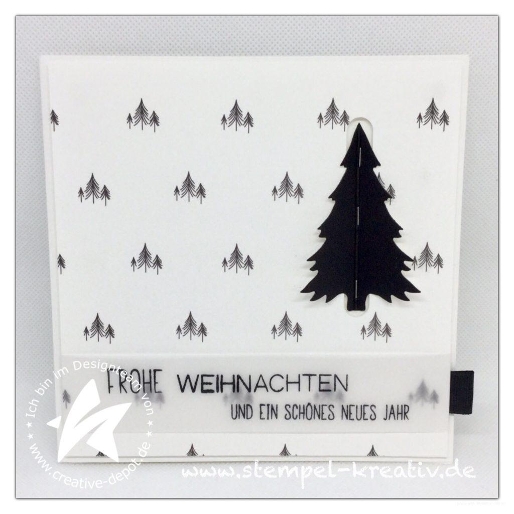 Weihnachtskarte mit Pop up Tannenbaum