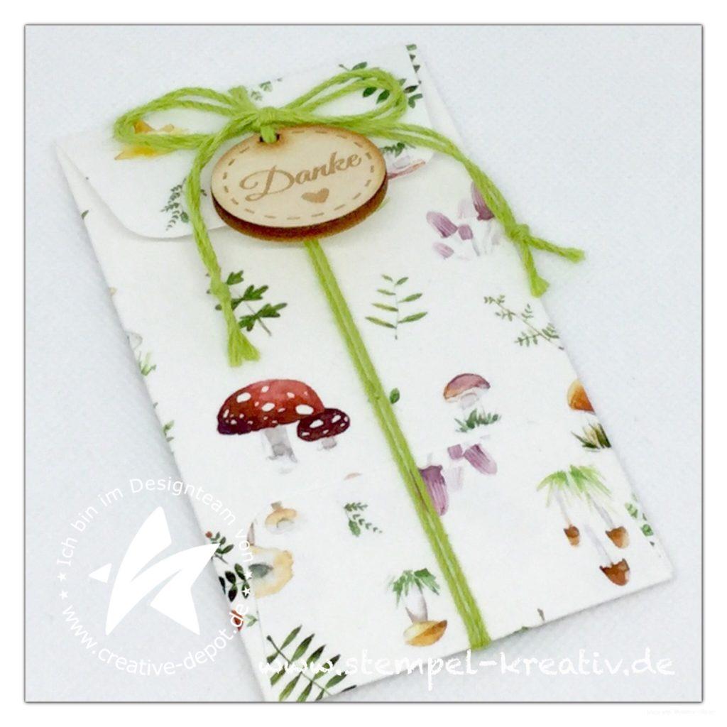 Kleiner Umschlag Pilzwiese