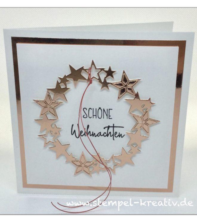 Weihnachtskarte Skandinavischer Kranz