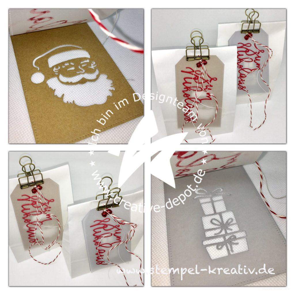 Geschenktüten mit Anhänger zum Nikolaus