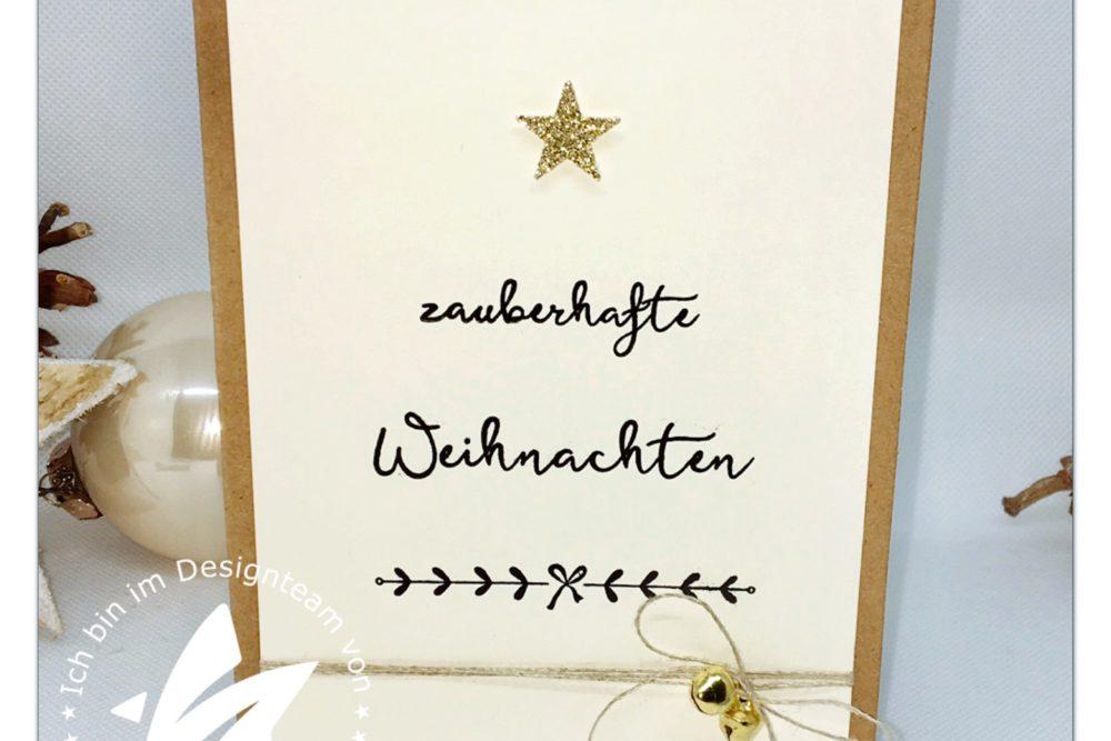Weihnachtskarte Feine Weihnachten mit Stern