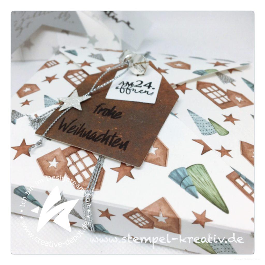 CD-Adventskalender weihnatliche Verpackung mit dem Envelope Punch Board