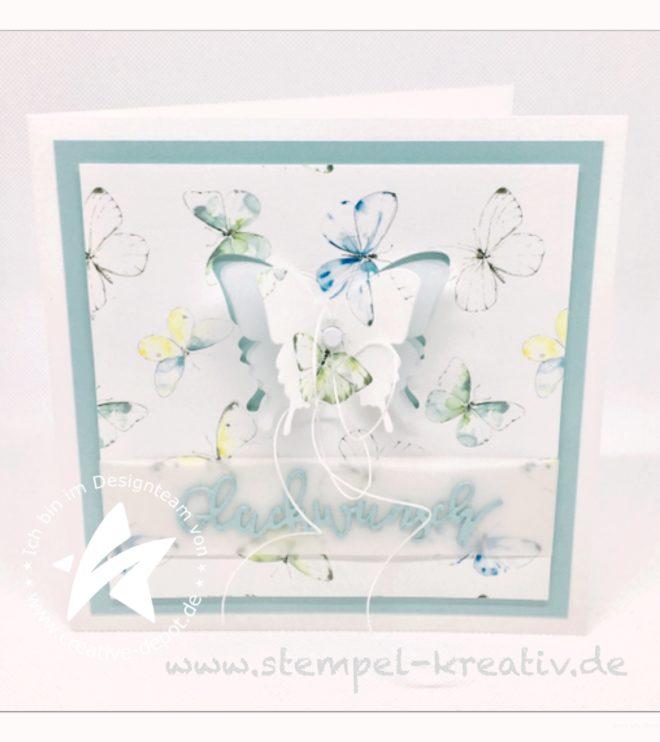 Glückwunschkarte zum Geburtstag Pop up Schmetterlinge