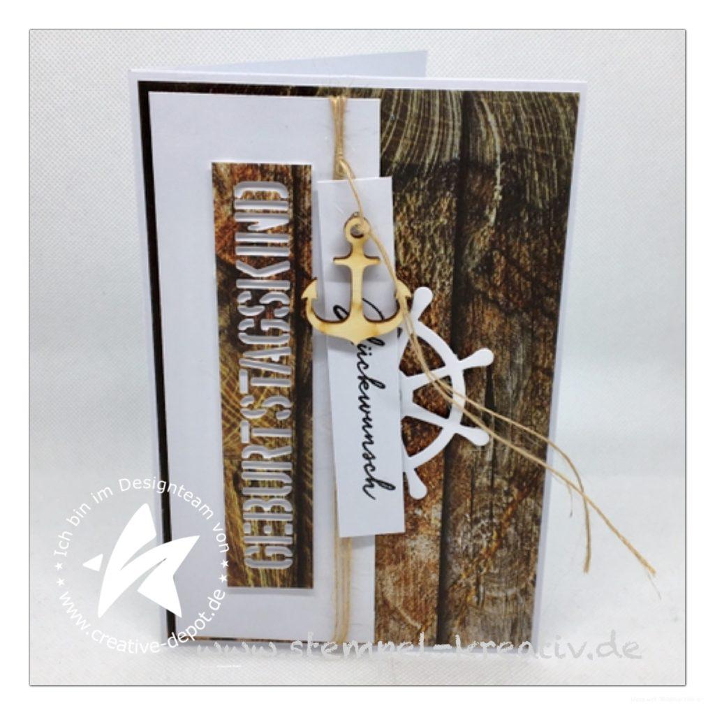 Glückwunschkarte Geburtstagskind Holzmunster