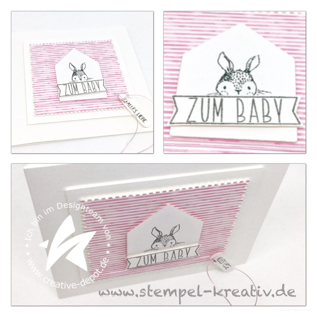 Babykarte Haus Hintergrundstanze mit Baby Banner